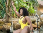Photos: OAP Moet Abebe Shows off Her Curves in Yellow Bikini