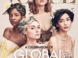 """""""Breaking news: My wife is on the cover of Vogue magazine"""" Banky W gushes as Adesua Etomi is featured on the prestigious publication"""