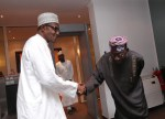 Photos: President Buhari Receives Tinubu And Bisi Akande in Abuja