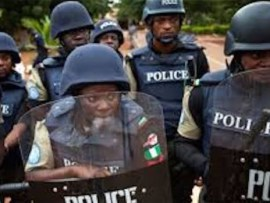 Police arrest six officers for failure to tackle hoodlums who set fire on INEC office in Ebonyi State