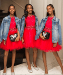 Adorable Photo of Diddy's Beautiful Daughters Posing in Matching Outfits