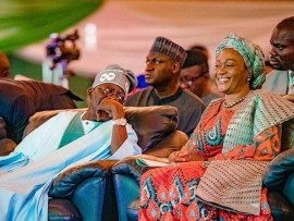 Lovely photo of Bola Tinubu and his wife, Remi