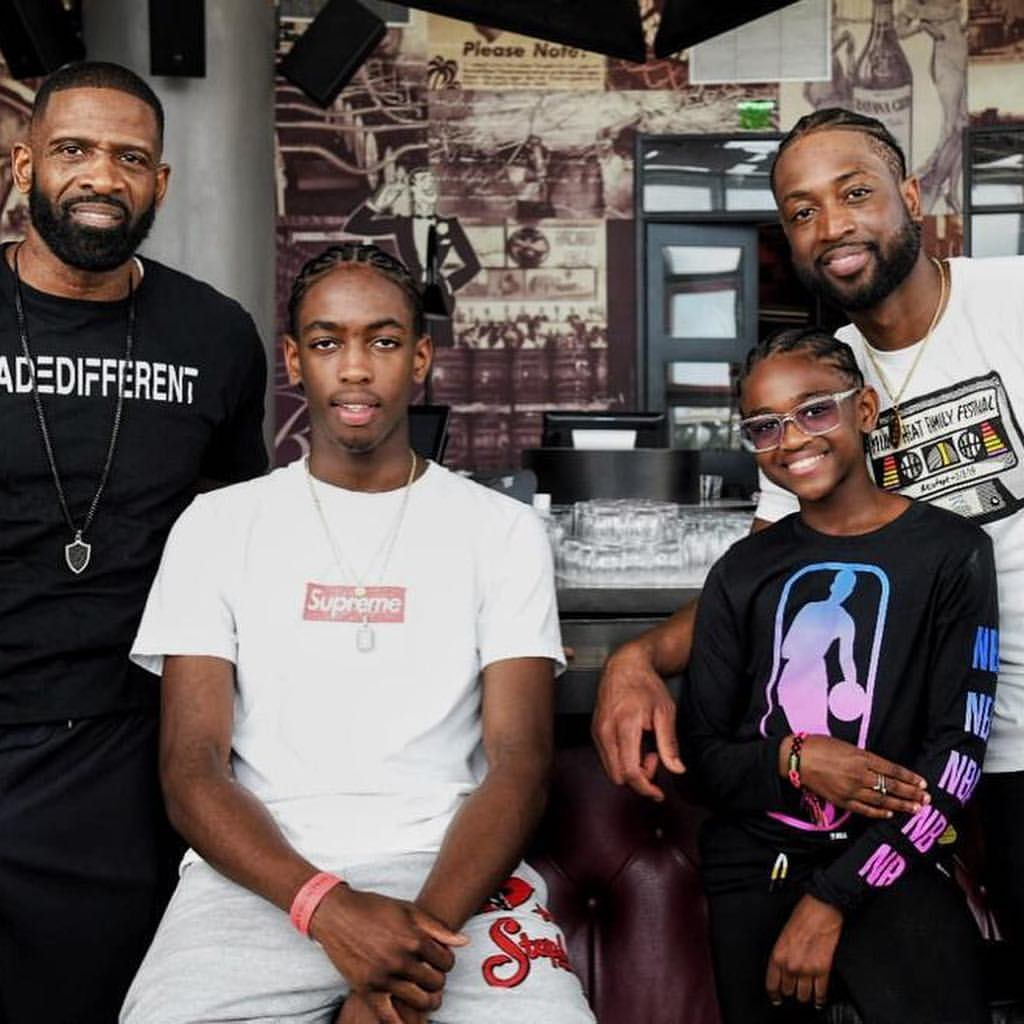 Dwyane Wade And His Sons Show off Their Matching Braided Hairstyles