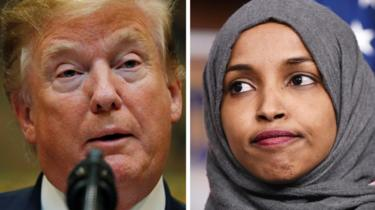 Trump and Ilhan Omar