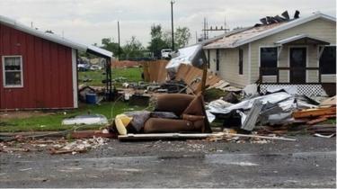 tornado damage