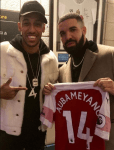 Pierre-Emerick Aubameyang Links Up With Drake At His Concert