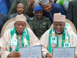 INEC issues certificate of return to Governor Ganduje?In Kano State