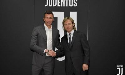 Juventus striker, Mario Mandzukic signs new two-year deal until 2021 (Photos)