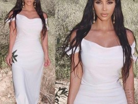 Kim Kardashian shows off her stunning look to Kanye West