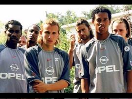 Throwback photo of Okocha,?Ronaldinho and Pochettino during their PSG days