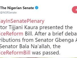 Nigerian Senate passes police reform bill