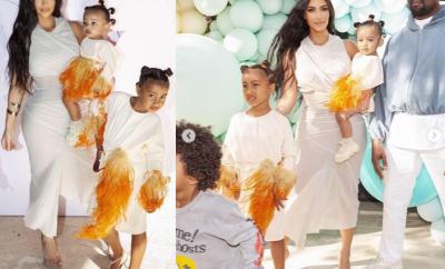 Kim Kardashian shares stylish photos of her family at True