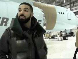Rapper, Drake shows off his new private plane,
