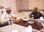 Photos: President Buhari Breaks Ramadan Fast With The APC National Leader, Asiwaju Bola Tinubu