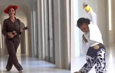 Budding star: North West Dances to Lil Nas X