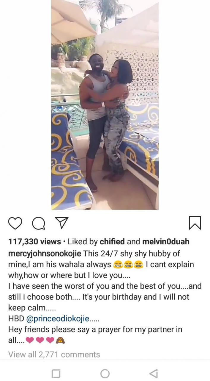 Mercy Johnson goofs around with her husband as she wishes him a happy birthday in heartwarming video