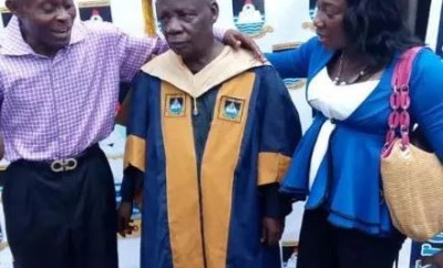 Photos:?80-year old man bags Msc degree form Lagos State University