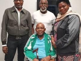 Photos: Femi Otedola, Amaju Pinnick visit Christian Chukwu at the Wellington Hospital,?London
