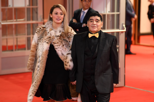 Diego Maradona ?arrested? at airport after ex-girlfriend sued him for   million