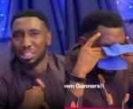 Video: Timi Dakolo Breaks Down in Tears Following Arsenal's Europa League Finals Loss To Chelsea