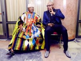 Photos of E-money and Oluwo of Iwoland at President Buhari