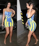 Kylie Jenner Flaunts Her Curves in Colourful Skintight Dress As She Steps Out in LA