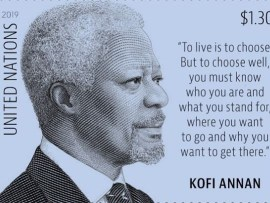 United Nations issues new stamp to pay tribute to late Kofi Annan