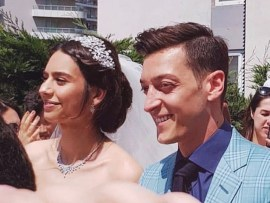 Arsenal star Mesut Ozil marries 2014 Miss Turkey Amine Gulse in glamorous Istanbul ceremony (Photos)
