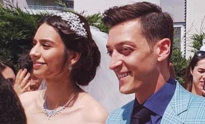 Arsenal star Mesut Ozil marries 2014 Miss Turkey Amine Gulse in glamorous Istanbul ceremony (Photos)