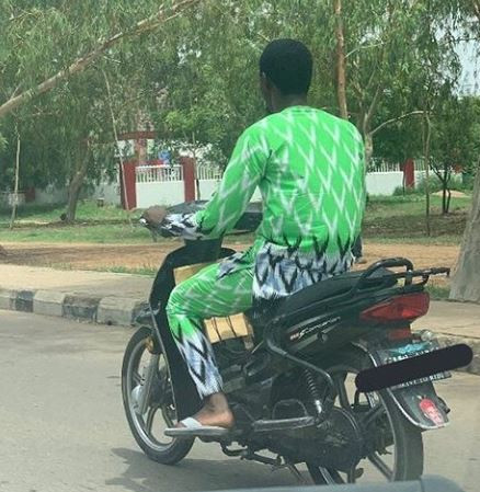 Lol! Okada rider spotted rocking the