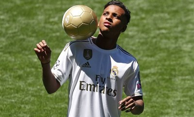 Real Madrid unveils Brazilian forward Rodrygo following ?40m switch from Santos (Photos)