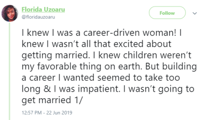 I regretted getting pregnant immediately after marriage - Bitter Nigerian feminist says