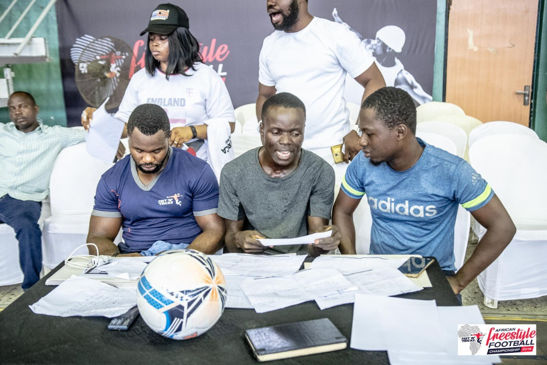 BBNaija, Kemen and other Judges at 2019 Freestyle Football Championship Lagos Auditions