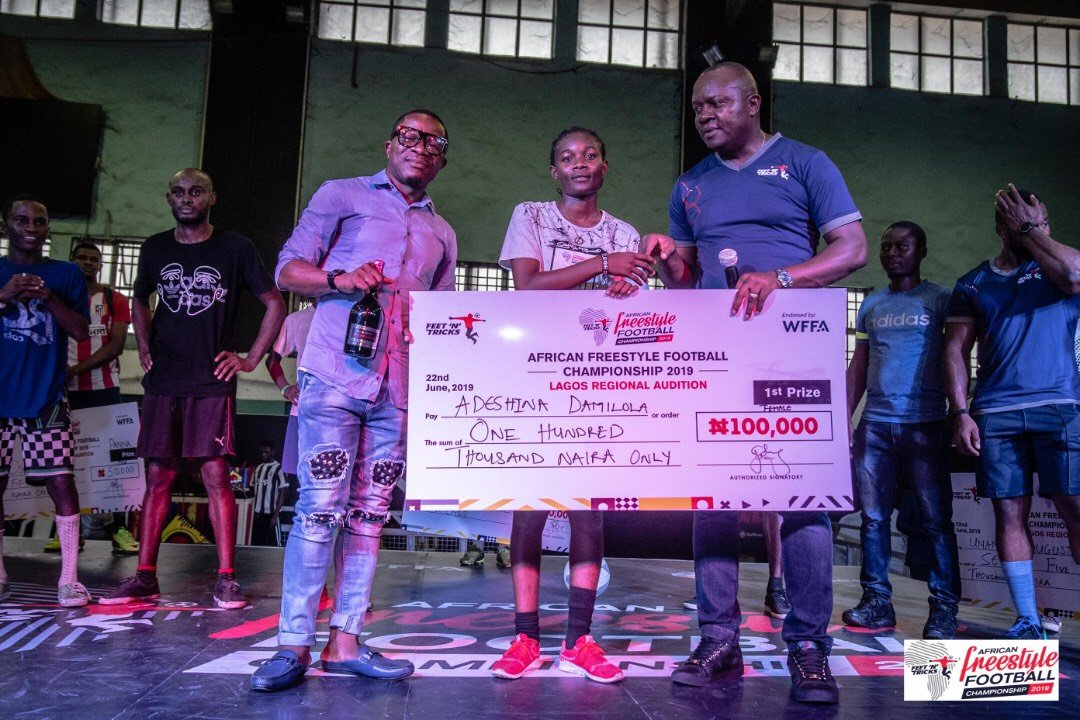 Winner at 2019 Nigerian Freestyle Football Championship Lagos Auditions