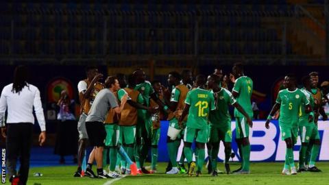 Senegal celebrate