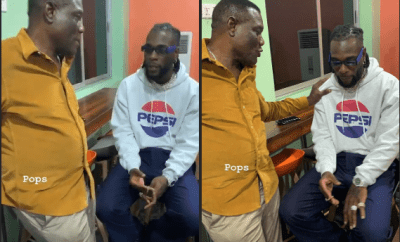 Rare photos of Burna Boy and his father Samuel Ogulu