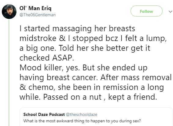 Man reveals how he saved a lady