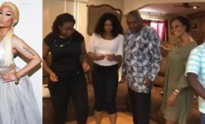 Nicki Minaj hails a Nigerian family that jumped on her #megatronchallenge