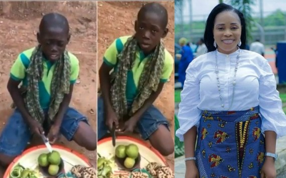 Young hawker with an amazing voice goes viral after singing Tope Alabi