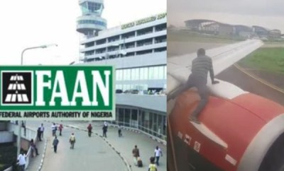 FAAN suspends Lagos airport security heads over arrested stowaway