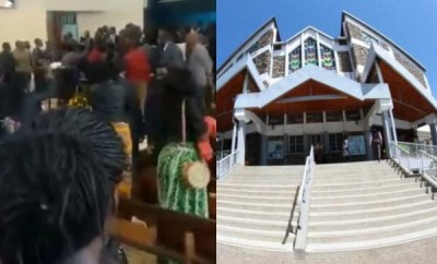Pastor beaten in church by members (video)
