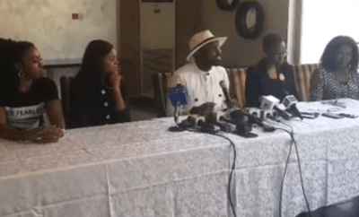 Photos: Timi Dakolo and wife Busola hold press conference in Lagos. Timi 2reveals Busola told him about the rape incident for the first time last year