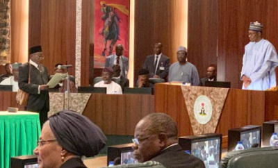 President Buhari swears in Tanko Mohammed as Chief Justice of Nigeria