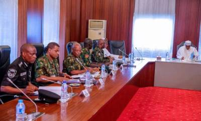 President Buhari in closed door meeting today with security chiefs over bloody Shi?ites protests
