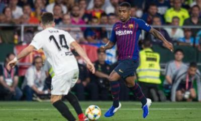 Malcom in action for Barcelona