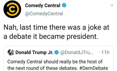 Shot Fired! Between President Trump and Comedy Central