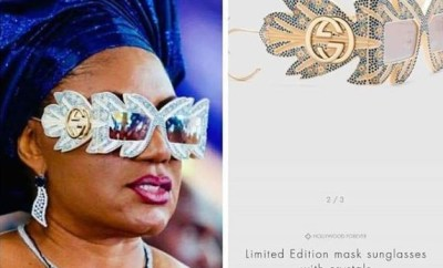 Update:?The stylish sunglasses rocked by?Anambra first lady, Ebele Obiano is N1m limited edition Gucci designer