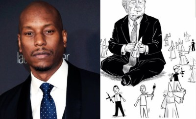 Tyrese accuses Donald Trump and the police of being mild on domestic terrorists because
