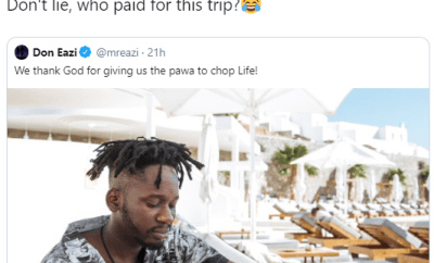 Mr Eazi replies follower who questioned who sponsored his expensive summer trip