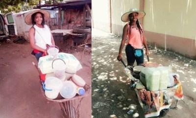 Graduate who sells food with a wheelbarrow reveals she makes more than salary earners